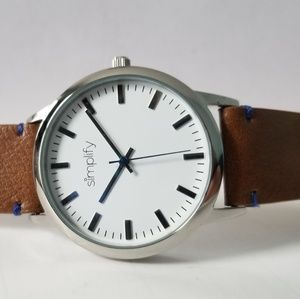 Dual Banded Watch. Strong white face, blue accent